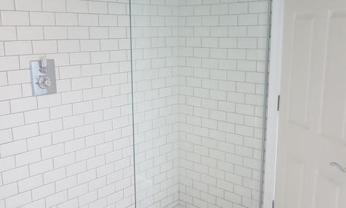 Corridor converted into bathroom