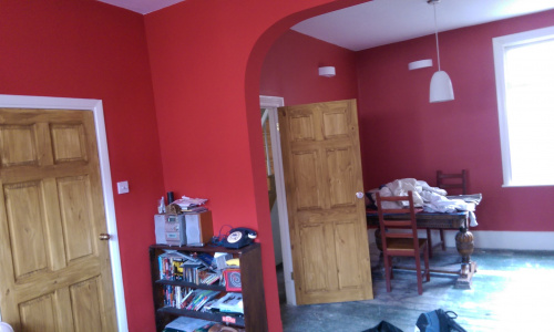 Wall removal and painting
